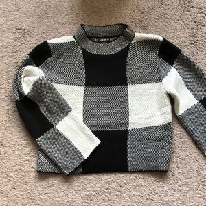 SHEIN black and white checkered sweater